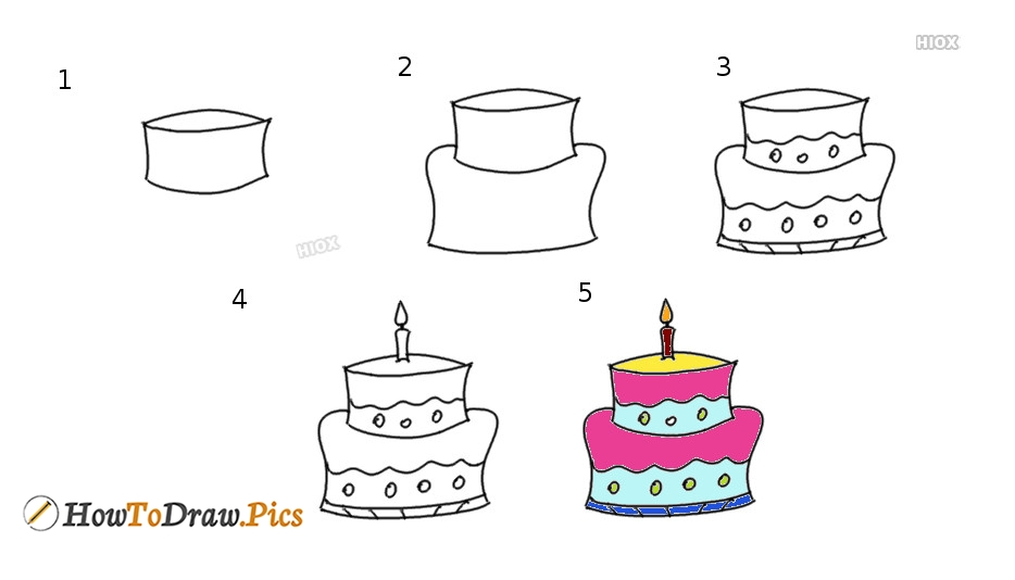 How To Draw Birthday Cake Images