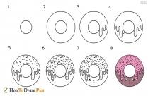 Draw Cute Donut