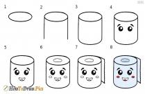 Draw Cute Tissue Roll