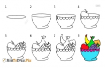 How To Draw Fruits Step By Step Easy