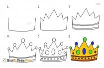 How Do You Draw A Princess Crown