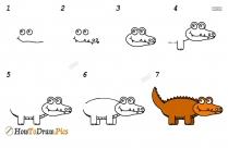 How Do You Draw A Crocodile