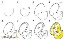 How To Draw 3d Fruits Step By Step