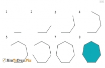 How To Draw 7 Sided Polygon
