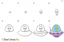 How To Draw A Alien