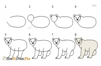How To Draw Bear Pictures | Bear Step by Step Drawing Lessons