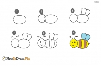 How To Draw A Bee Step By Step?