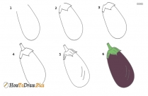 How To Draw A Brinjal?