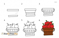 How To Draw A Bushel Of Apples