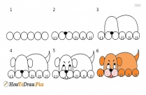 How To Draw Dog Easily