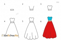 How To Draw A Dress