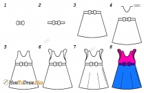How To Draw A Dress Sketch