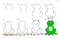 How To Draw A Frog
