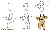 Domestic Animals Drawing Easy