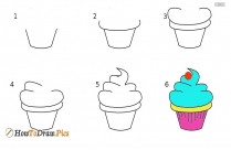 How To Draw A Ice Cream Step By Step?