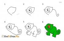 How To Draw A Iguana
