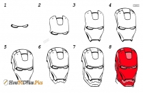How To Draw A Iron Man