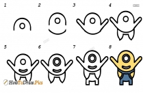 How To Draw Step By Step Mickey Mouse