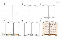 How To Draw A Open Book