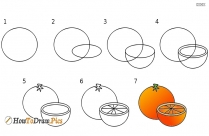 How To Draw Grapes Easy Step By Step