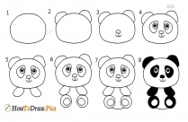 How To Draw Step By Step Panda