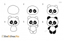 How To Draw A Panda Cute
