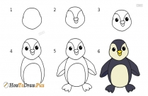 How To Draw A Penguin Step By Step Easy