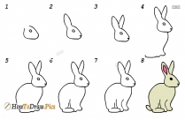 How To Draw A Rabbit Running