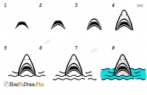 How To Draw A Shark With Mouth Open