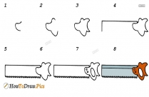 How To Draw A Tenon Saw