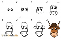 How To Draw A Yak Step By Step Easy
