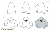 How To Draw A Yeti