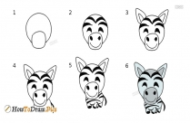 How To Draw A Zebra Easy