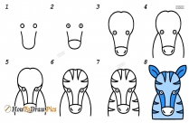 How To Draw A Zebra Head Step By Step