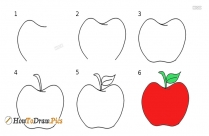 How To Draw An Apple Easy