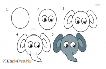 How To Draw An Elephant In An Easy Way