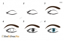 How To Draw Step By Step Eyes