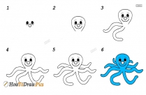 How To Draw An Octopus Step By Step Easy