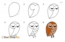 How To Draw An Owl Easy