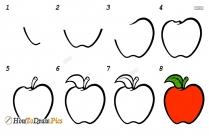 How To Draw A Apple Howtodraw Pics