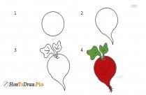 How To Draw Turnip
