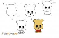How To Draw Cartoon Pooh