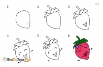 How To Draw Cute Fruits Step By Step