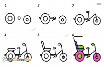 How To Draw Cycle Rickshaw