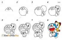 How To Draw Doraemon And Nobita Step By Step