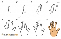 How To Draw Fingers And Hands