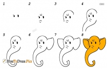 How To Draw Ganesha Face