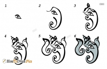 How To Draw Ganesha Picture