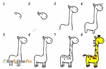 How To Draw Giraffe Step By Step