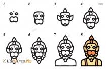 How To Draw Hanuman